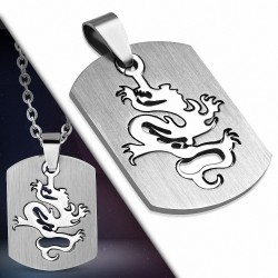 Pendentif homme plaque dragon chinois