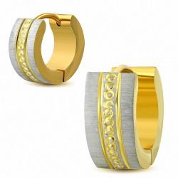 Paire de boucles d'oreille acier inoxydable anneaux dorés