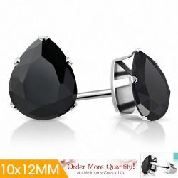 10x12mm |Boucles d'oreilles clous en acier inoxydable