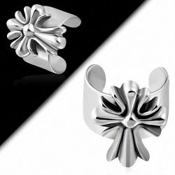 Boucle d'oreille supérieure d'oreille en acier inoxydable Fleur De Lis