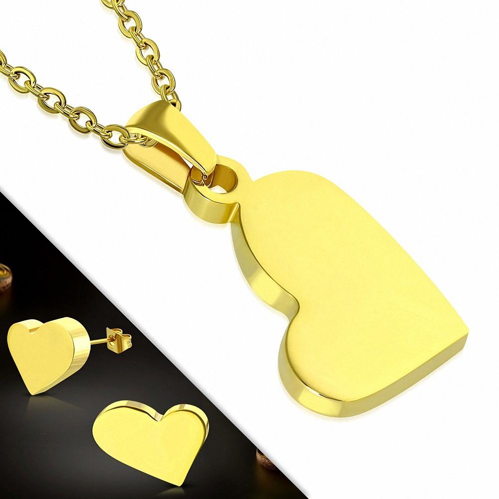 Pendentif en acier inoxydable  carte de jeu avec coeur