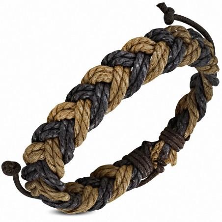 Bracelet ajustable en corde tressée à la mode