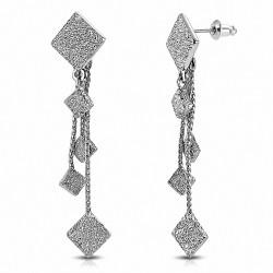 Boucles d'oreilles pendantes à la mode en alliage à la mode et moulantes (paire)