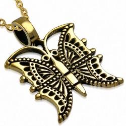 Pendentif Aile Papillon Fashion Bronze