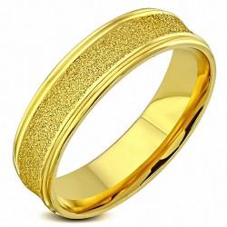 6mm |Bague de mariage concave en alliage d'acier inoxydable plaqué de couleur sablée confort