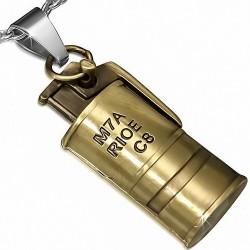 Pendentif Grenade cylindrique en Alliage Fashion cuivré
