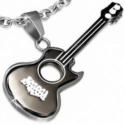 Pendentif en alliage instrument de musique guitare électrique 1 noire