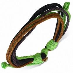 Bracelet ajustable en corde multicolore 876
