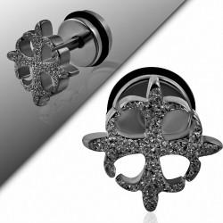 Piercing oreille  acier inoxydable sablé Fleury Cross  acier inoxydable avec joint torique | G-1