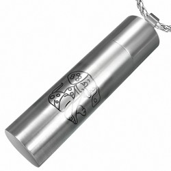 Pendentif homme cylindre signe chinois chien
